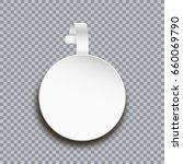 wobbler mockup on transparent... | Shutterstock .eps vector #660069790