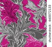 gray and magenta vector seaweed ... | Shutterstock .eps vector #660072133
