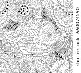 tracery seamless pattern.... | Shutterstock .eps vector #660074590