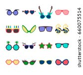 party colorful sunglasses icon... | Shutterstock .eps vector #660075514