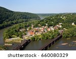 Aerial View Of The Town Of...