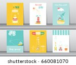 set of cute bottle designs... | Shutterstock .eps vector #660081070