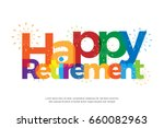 happy retirement colorful with...