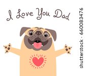 Greeting Card For Dad With Cute ...