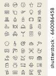 hotel icon  line icon  mobile... | Shutterstock .eps vector #660086458