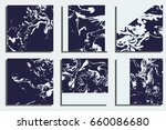 marble cards. hand painted... | Shutterstock .eps vector #660086680