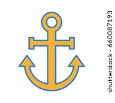 sail anchor isolated icon | Shutterstock .eps vector #660087193