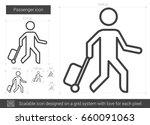 passenger vector line icon... | Shutterstock .eps vector #660091063