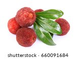 ripe arbutus  on the white... | Shutterstock . vector #660091684