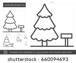 landscape design vector line... | Shutterstock .eps vector #660094693