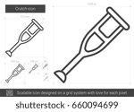 crutch vector line icon... | Shutterstock .eps vector #660094699