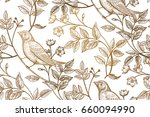 vintage flowers  branches ... | Shutterstock . vector #660094990
