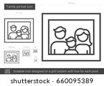 family portrait vector line... | Shutterstock .eps vector #660095389