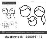 family members vector line icon ... | Shutterstock .eps vector #660095446