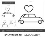 just married vector line icon... | Shutterstock .eps vector #660096094