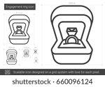 engagement ring vector line...   Shutterstock .eps vector #660096124