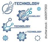 set of circuit tech elements.... | Shutterstock .eps vector #660097003