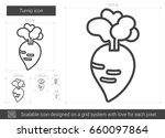 turnip vector line icon... | Shutterstock .eps vector #660097864