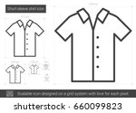 short sleeve shirt vector line... | Shutterstock .eps vector #660099823