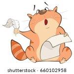 illustration of a cute cat.... | Shutterstock .eps vector #660102958
