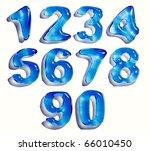 water drop numbers set  3d | Shutterstock . vector #66010450