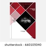 red annual report brochure... | Shutterstock .eps vector #660105040