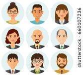 Business People Flat Avatars...