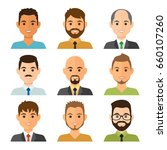 business men flat avatars set... | Shutterstock .eps vector #660107260