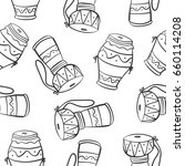 vector art music theme doodle... | Shutterstock .eps vector #660114208