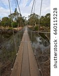 Small photo of Pool Street, York, Western Australia: June 13, 2017 - York Swing/Suspension Bridge was originally built in 1889 to gain quicker access across the Avon River, the bridge was re-built in 1988