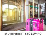 luggage in the hotel lobby ... | Shutterstock . vector #660119440