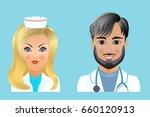 medical clinic staff flat... | Shutterstock .eps vector #660120913