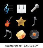 icons for music. vector... | Shutterstock .eps vector #66012169