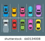 cartoon urban parking zones... | Shutterstock .eps vector #660134008