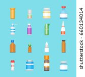 cartoon medicine bottles for... | Shutterstock .eps vector #660134014