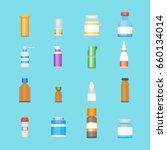 cartoon medicine bottles for... | Shutterstock .eps vector #660134014