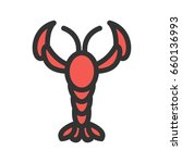 lobster | Shutterstock .eps vector #660136993