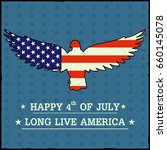 eagle bird in 4th of july happy ... | Shutterstock .eps vector #660145078