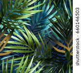 Palm Leaves Seamless Pattern....