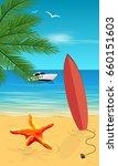 beach summer banner | Shutterstock .eps vector #660151603