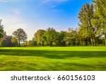 city park. panorama of a... | Shutterstock . vector #660156103