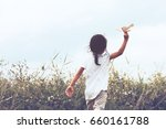 back view of asian child... | Shutterstock . vector #660161788