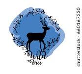 branches around of deer wild... | Shutterstock .eps vector #660167230