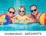 happy family having fun on... | Shutterstock . vector #660169474