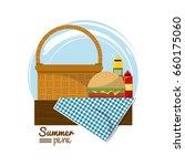 colorful logo summer picnic... | Shutterstock .eps vector #660175060