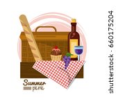 colorful logo summer picnic... | Shutterstock .eps vector #660175204