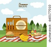 colorful poster of summer... | Shutterstock .eps vector #660177010