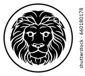 circle leo lion horoscope... | Shutterstock .eps vector #660180178