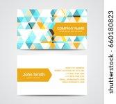 modern business card template | Shutterstock .eps vector #660180823