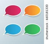 speech bubblea icon. dialog box ...   Shutterstock .eps vector #660181330